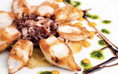 Calamars aromatisés aux poivrons et piment Tabasco