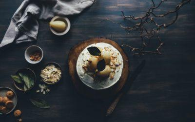 Poire pochée au poivre de Sichuan