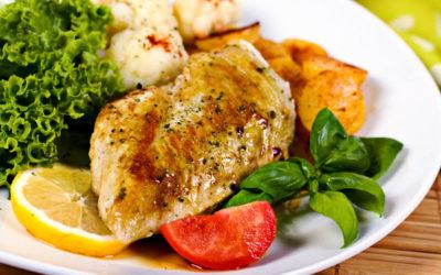 Cuisses de poulet et tagliatelles au pesto