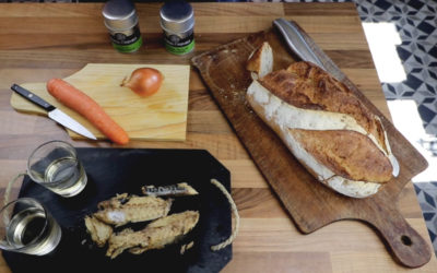 Recette vidéo : Bruschetta filets de maquereaux thym et laurier
