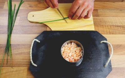 Recette vidéo: Tartare de crevettes à la persillade et au piment de Cayenne