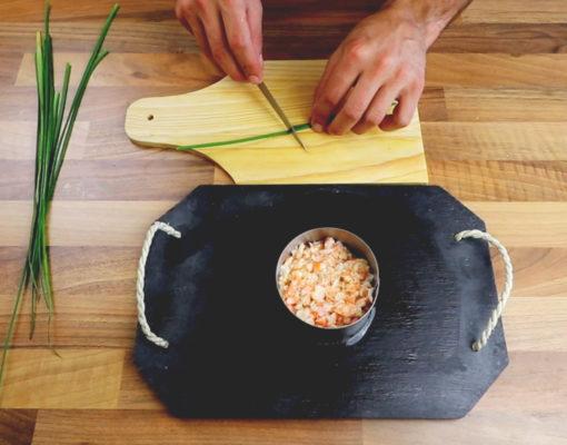tartare de crevettes
