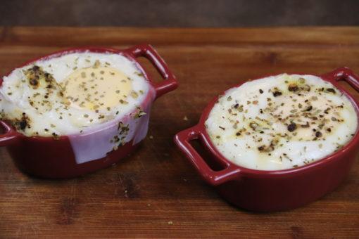 recette vidéo œufs cocotte chèvre miel laurier