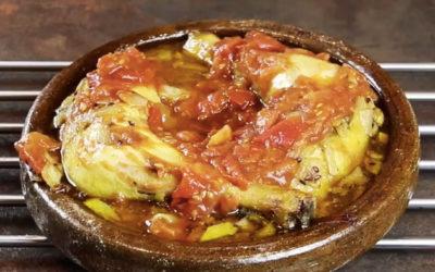Recette vidéo tajine de poulet aux tomates caramélisées