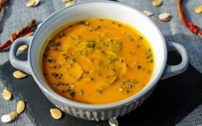 Soupe de potimarron aromatisée au sel ail et fines herbes !