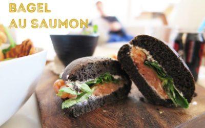 Bagel au saumon et à l'aneth