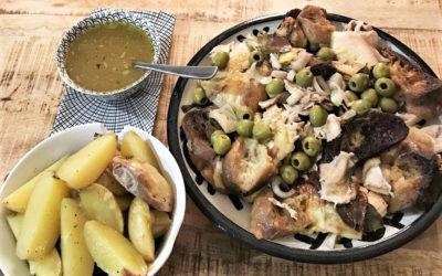 Poulet rôti aux olives