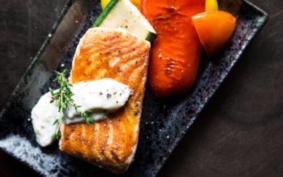 Pavé de saumon et sa sauce onctueuse