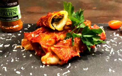 Cannelloni épinard ricotta – Assaisonnement Italien BIO