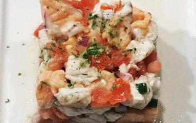 Tartare de saumon et dorade